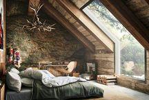dağ evi yatak odası