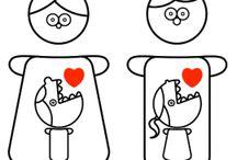 Omini CROMATINA / Una coppia romantica di Omini che diffondo un virus...quello dell'Amore! Lasciati contagiare!