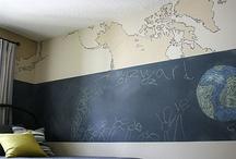 Home Decor: Chalkboard walls