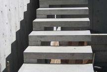 Modern concrete steps