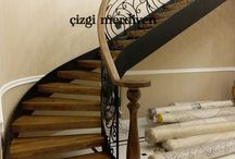 Tasarım merdivenler / Merdiven tasarımları