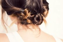 my girls' hair... / by Jen Calabrase
