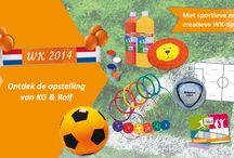 WK Selectie / Heeft u de oranjekriebels al te pakken? Bekijk snel de WK-selectie van KG & Rolf en speel samen met de kinderen uw eigen WK! Ontdek ook de WK-tips van DoenKids met leuke ideeën voor sportieve en creatieve activiteiten: www.kgrolf.nl/wk2014