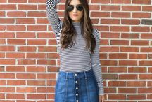 Outfit - Denim Skirt
