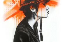 25 Pintando en el muro Graffitis