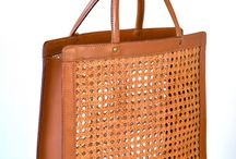 rattan n leather bag