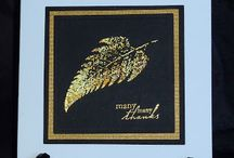 Gilding- flakes & wax / Ideas for using gilding flakes and gilding wax on cards
