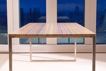 DecksTop™ Steel by Focused Skateboard Woodworks / An office desk made out of recycled skateboards harvested at local skate stores and factories axcross Europe. Made in Rotterdam (Netherlands) by Focused Skateboard Woodworks.