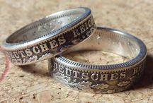 Partnerringe/Weddingrings / Ihr findet hier einzigartige Ehe- oder Partnerringe aus Münzen. Diese Ringe trägt nicht jeder und jedes Paar ist für sich ein Unikat.