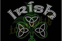 St. Patrick's Day Rhinestone Transfers