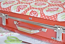 Old suitcases made into new / by Sheree Brown