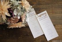 Wedding Hand-Lettering / Beautiful ways to use hand-lettering at your wedding.