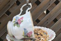 Teacup Bird feeder / Teacup bird feeders