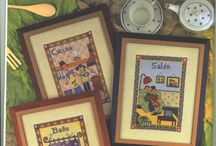 cross stitch in frame