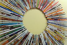 Crafts-Recycled magazines/Books / by Sherri Hall