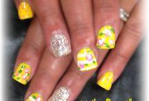 Yellow naila / Yellow gel nails
