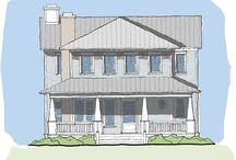 Nelson's Sparrow Home Plan / The Nelson's Sparrow plan is a crawl space design ideal for narrow lots. This design features a very private master suite with his and her closets and a beautiful vaulted ceiling. It has an open kitchen/living/dining area with a breakfast bay and excellent view opportunities. The entry also features a great wrap-around front porch. Upstairs there are three additional bedrooms, two full bathrooms and ample storage space with an attic.