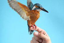 måla fåglar