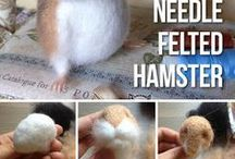 Felted animals / Needle and wet felted animals from wool