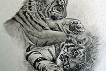 Tigrises tetoválások