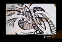 How to draw tribal tattoo designs - tutorial videos / This is a set of my tutorial videos, showing you how to draw Maori/Polynesian tattoo designs.