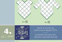 Crochet  ronds carrés ... / Ronds carrés