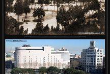 Barcelona fotos comparativas