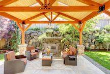 Venkovní krby / Outdoor fireplace / Letní měsíce přímo volají po chvilkách strávených venku. A k tomu je ideální doplněk venkovní krb. / Summer months just invite us to spend time out. An outdoor fireplace is an ideal supplement.  #garden #relax