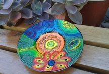 platos pintados