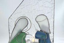 vitráže - vánoční