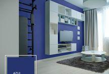 El color azul en la decoración / El azul tiene diferentes tonos y junto a él puedes diseñar un espacio relajante y fresco.