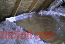 Radiant Barrier Attic - Over Insulation / This is probably the easiest method to install AtticFoil® Radiant Barrier Foil. Simply lay the foil out OVER the existing insulation on the attic floor.