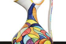 Vasi in ceramica decorati a mano / Vasi in ceramica,decorati a mano,decorazioni originali,colori brillanti,vivaci,pezzi unici