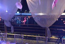 Flamingo wedding and christening