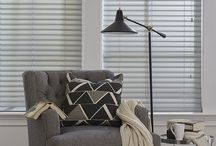 Fabric Blinds / Fabric blinds offer the light control of a blind with soft effects of a shade. The woven fabric vanes are dust-resistant, making it a simple choice for a crisp, beautiful home.