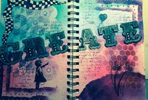 Journal pages / My first, own personal creative journal.  Just going with the flow and seeing where it takes me.