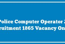 UP Police Computer Operator Recruitment 2016 Apply Online (Total 1865 Vacancies)