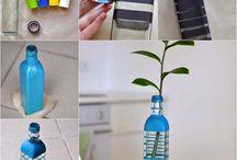 Διακόσμηση πλαστικού μπουκαλιού