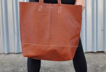 totes / handmade leather totes