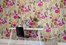 Wallpaper pattern and Interior decor / Wallpaper pattern and Interior decor