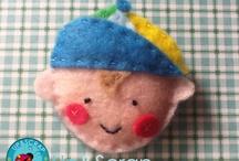 Muñecos de Fieltro / Ideas y patrones para hacer muñecos, llaveros y fundas en fieltro. De animales, de Navidad, Harry Potter... ¡nos encantan!