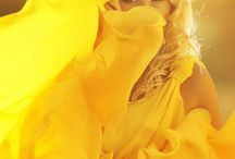 Flaming / Yellow, bright colors, vaporous skirts, photography, fashion