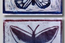 Linocut and bugs