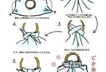 Furoshiki / Väskor knutna av tyger
