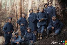 Soldat Francais WW1 / Photos colorisées de soldats Français durant la première guerre mondial.