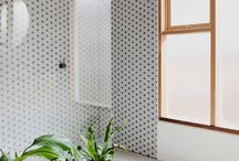 MONOCHROME / Black, white & green interior home details
