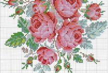 вышивка. розы / схемы для вышивки