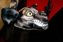 """Lion King"" / Design and Implementation of Zazu mask for the scenic spectacle The Lion King for Iberostar, Worldwide, by Vanya Vasileva. vanyart.com/lion_king.html"