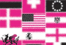Flagtagged print / Flags are waving for our graffiti-style 'Flagtagged' print! We were inspired this year by the Olympics, World Cup & Ryder Cup. Plus another Solheim Cup around the corner, with golf returning as an Olympic sport in 2016.