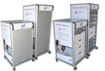 Medical Trolleys / Medical Trolleys Flight Cases manufactured to allow flexibility for hospital storage.